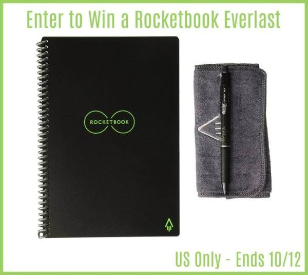 RocketBook Reusable Notebook Giveaway Ends 10/12 Good Luck