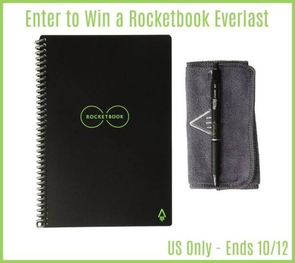 RocketBook Reusable Notebook Giveaway Ends 10/12 Good Luck