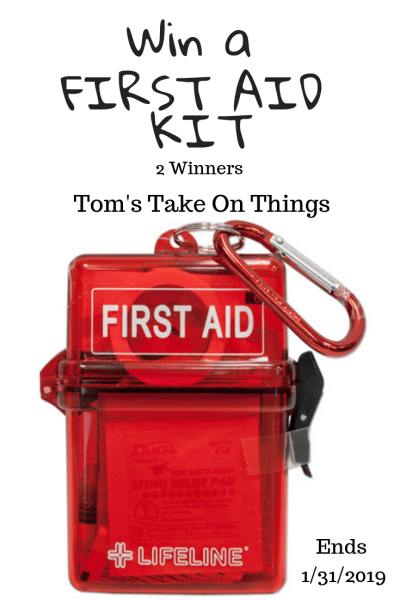 Tom's Take On Things is happy to bring you this First Aid Kit giveaway. 2 winners. I am a former Paramedic now blogger. #firstaid