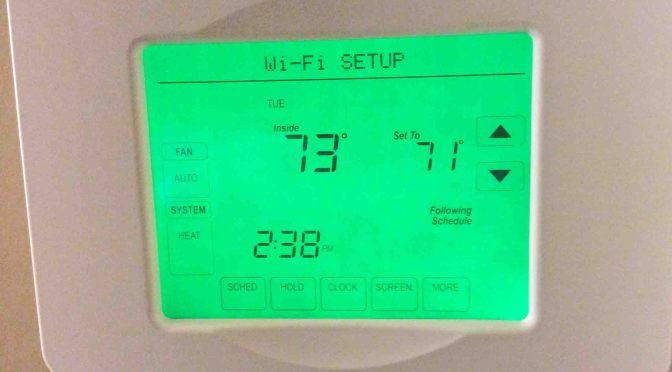 Change Wireless Network on Honeywell Wifi Thermostat RTH8580WF