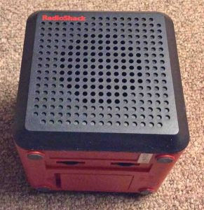 Front view picture of the NOAA weather cube by Radio Shack, model 12-500.