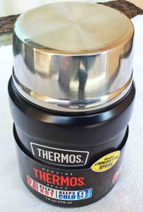 Picture of the front view of the Thermos 16 Oz. vacuum insulated food jar.