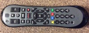 Picture of the front of the Comcast Xfinity XR2 Version U2 Remote Control.
