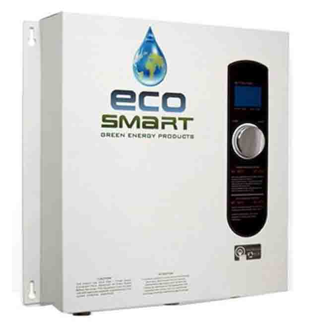 stock picture of the ecosmart eco 27 electric tankless water heater front view