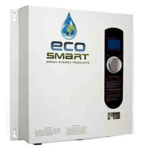 Tankless water heater disadvantages. Stock picture of the EcoSmart ECO 27 electric tankless water heater, front view.