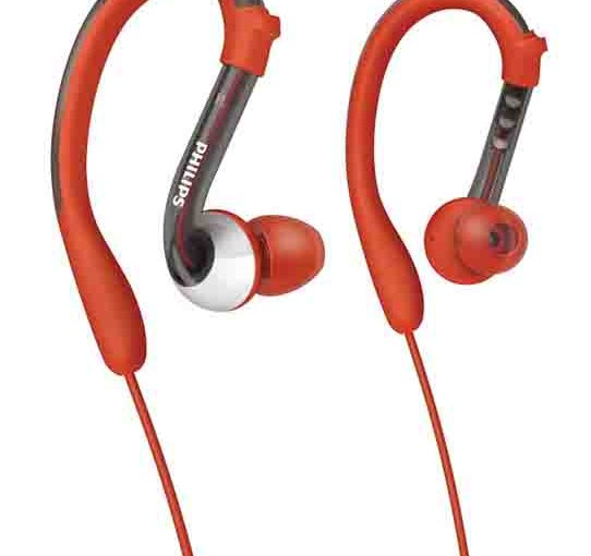 Stock picture of the Philips SHQ3000 sports actionfit earhook headphones.