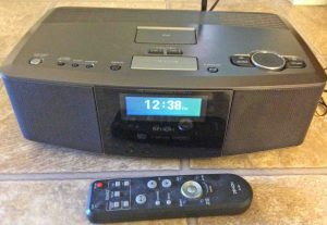 Picture of the Denon S-32 Wireless Internet Radio Music System, Front View, from Top.