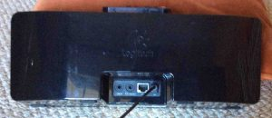 Picture of the Logitech Squeezebox Boom Internet Radio Back, showing all connections.