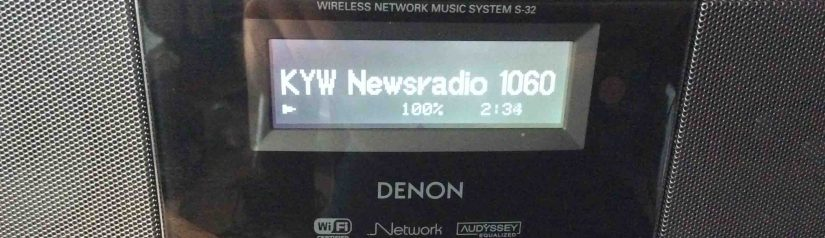 Reconnect WiFi on Denon S-32 Internet Radio, How To