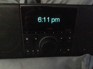 Picture of the Logitech Squeezebox Boom Radio, after successful Wi-Fi network setup.