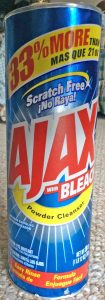 Picture of Ajax Powder Cleanser with Bleach, 28 ounce can, front view,