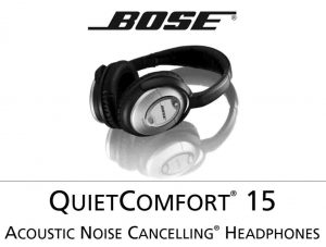Picture of the Bose QC-15 Acoustic Noise Cancelling Headphones, stock photo.