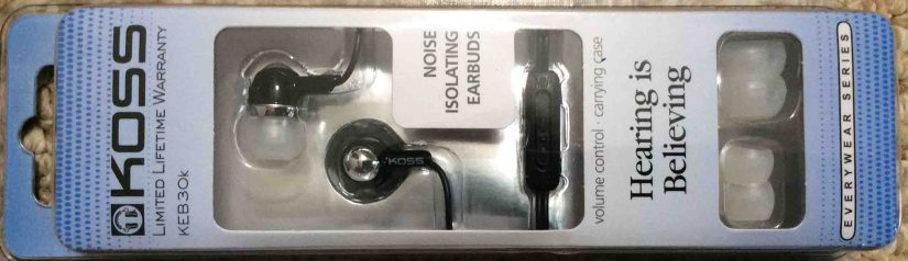 Koss Noise Isolating Earbuds KEB30K Headset Review