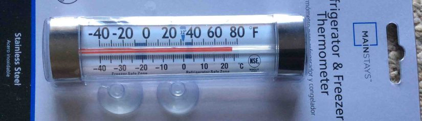 Mainstays Refrigerator Freezer Thermometer G761 Review