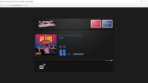 Picture of the WKMC 1370 AM Streaming Web Player in action. Finding radio stream URL.