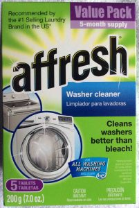 Picture of Affresh® Washer Cleaner 7 ounce box, top view.