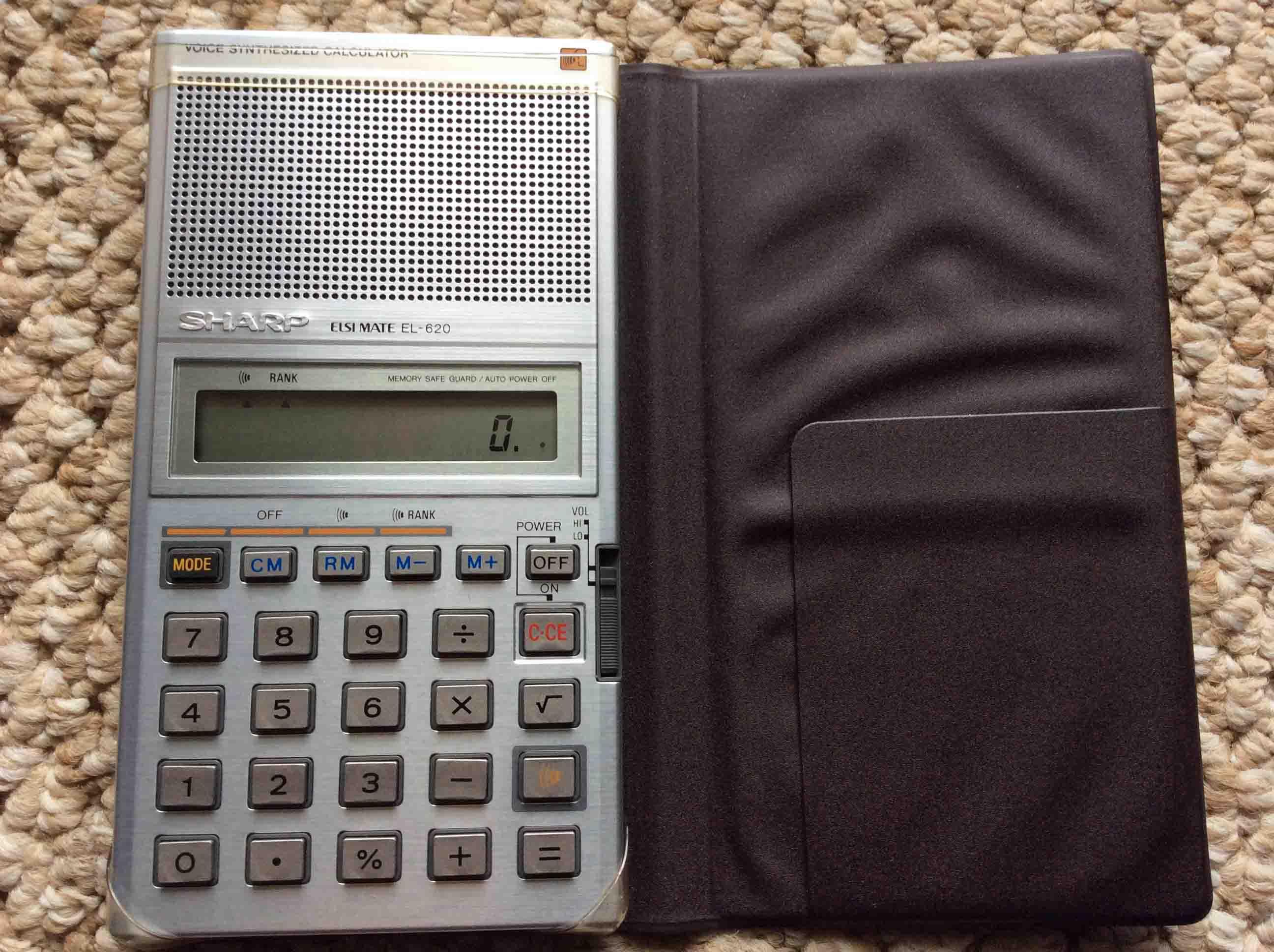 Sharp elsi mate vintage talking calculator el-620 review   tom's.