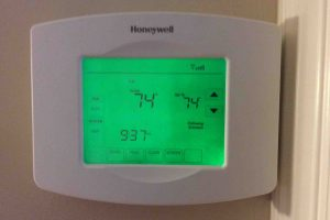 Pictures of various Honeywell thermostat models:. Here we have the RTH8580WF internet controlled thermostat.