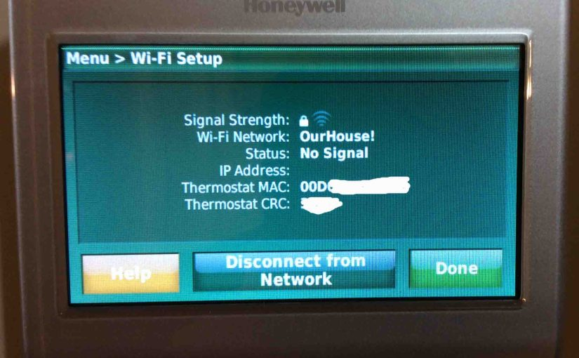 Change WiFi Network on Honeywell Thermostat RTH9580WF