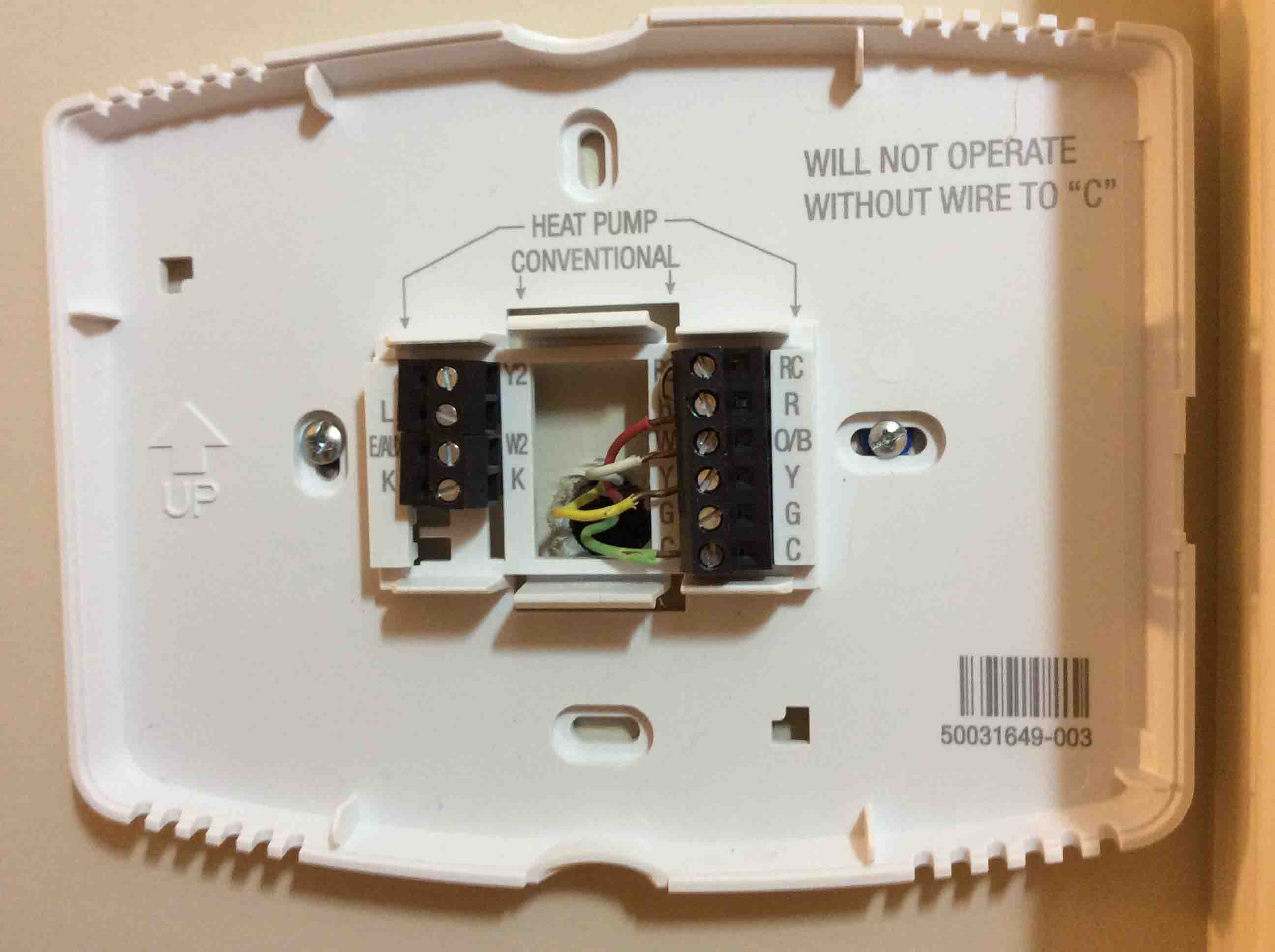 wire thermostat wiring color code toms tek stop