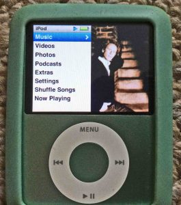 Picture of the iPod Nano 3rd Gen Portable Player. It's capable of playing AAC media files.