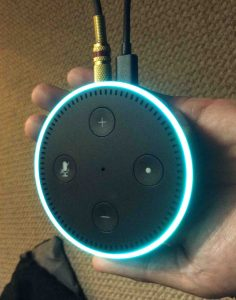Picture of the Amazon Echo Dot 2nd Generation Smart Speaker, Top View