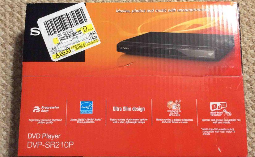 Unboxing Sony DVP SR210P CD DVD Player
