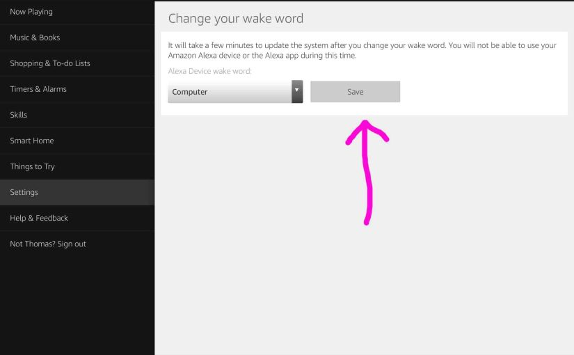 How to Change Echo Dot Wake Word
