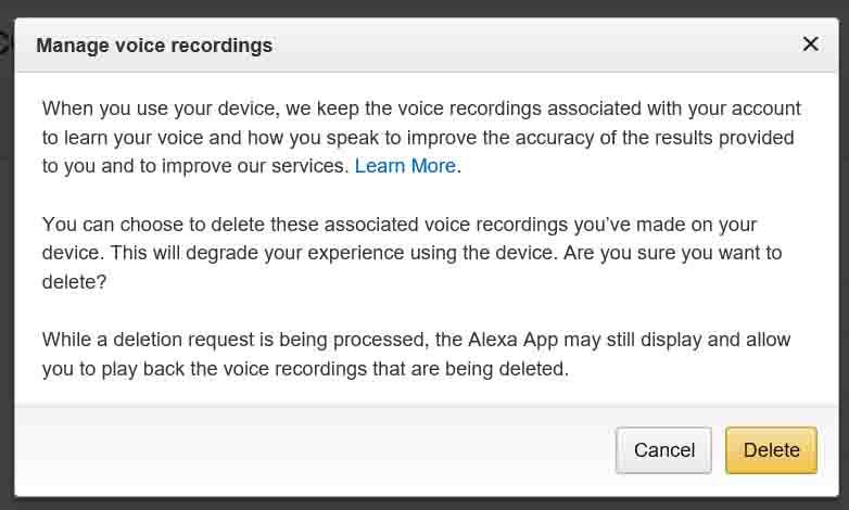 How to Delete Alexa Voice Recordings History