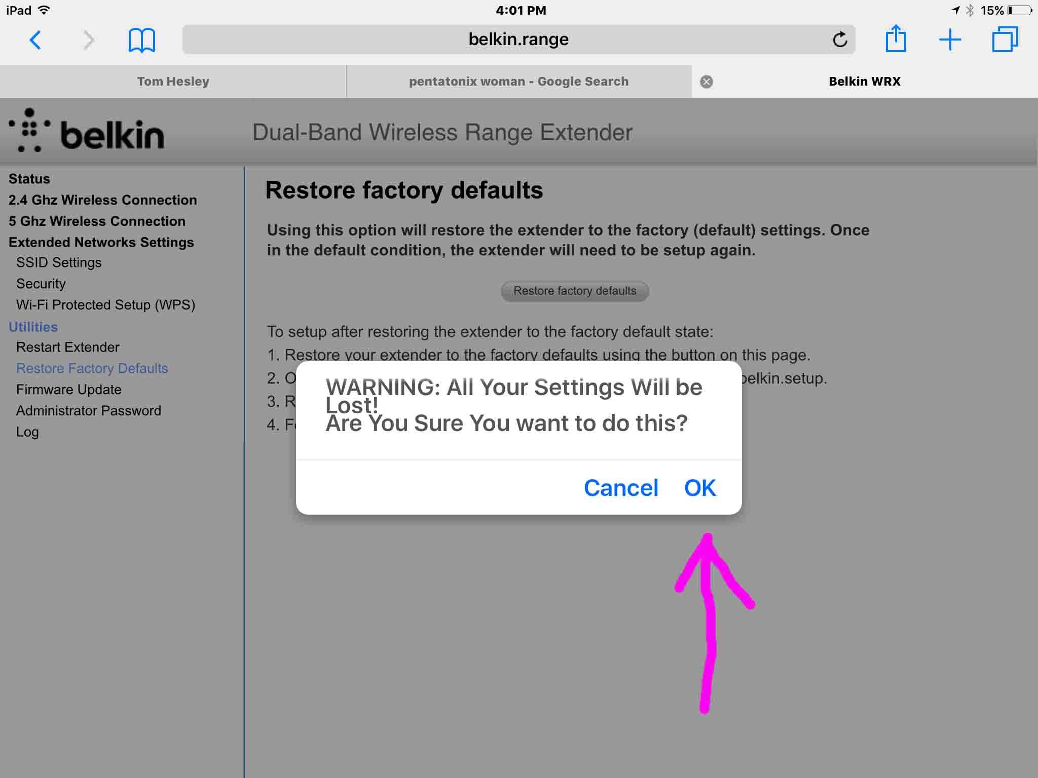 Belkin Range Extender Reset Instructions, F9K1122 vX   Tom's