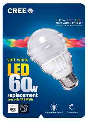 CREE 60w Soft White LED 2700k Light Bulb Review