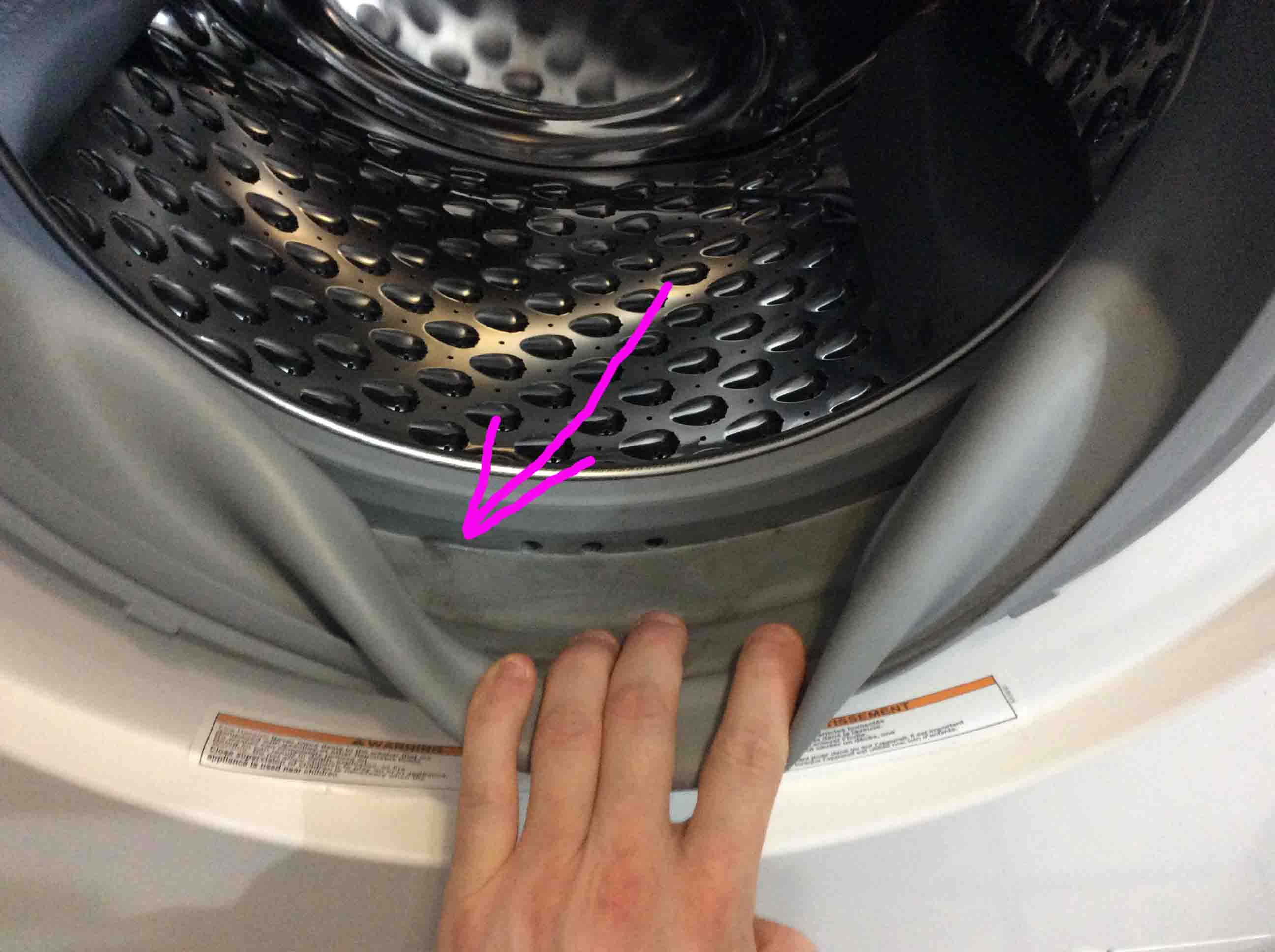 Charmant How To Clean Door Seal Gasket On Front Loader Washing Machine