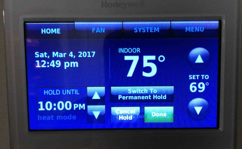 How to Set Honeywell RTH9580WF Thermostat Temperature