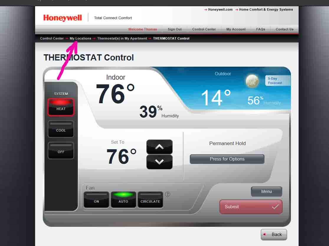Unregister Honeywell Thermostat RTH9580WF Instructions | Tom's Tek Stop