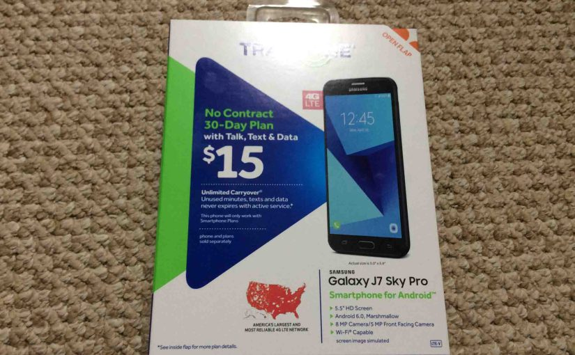 Unboxing the Samsung Galaxy J7 Sky Pro Tracfone Smart Phone