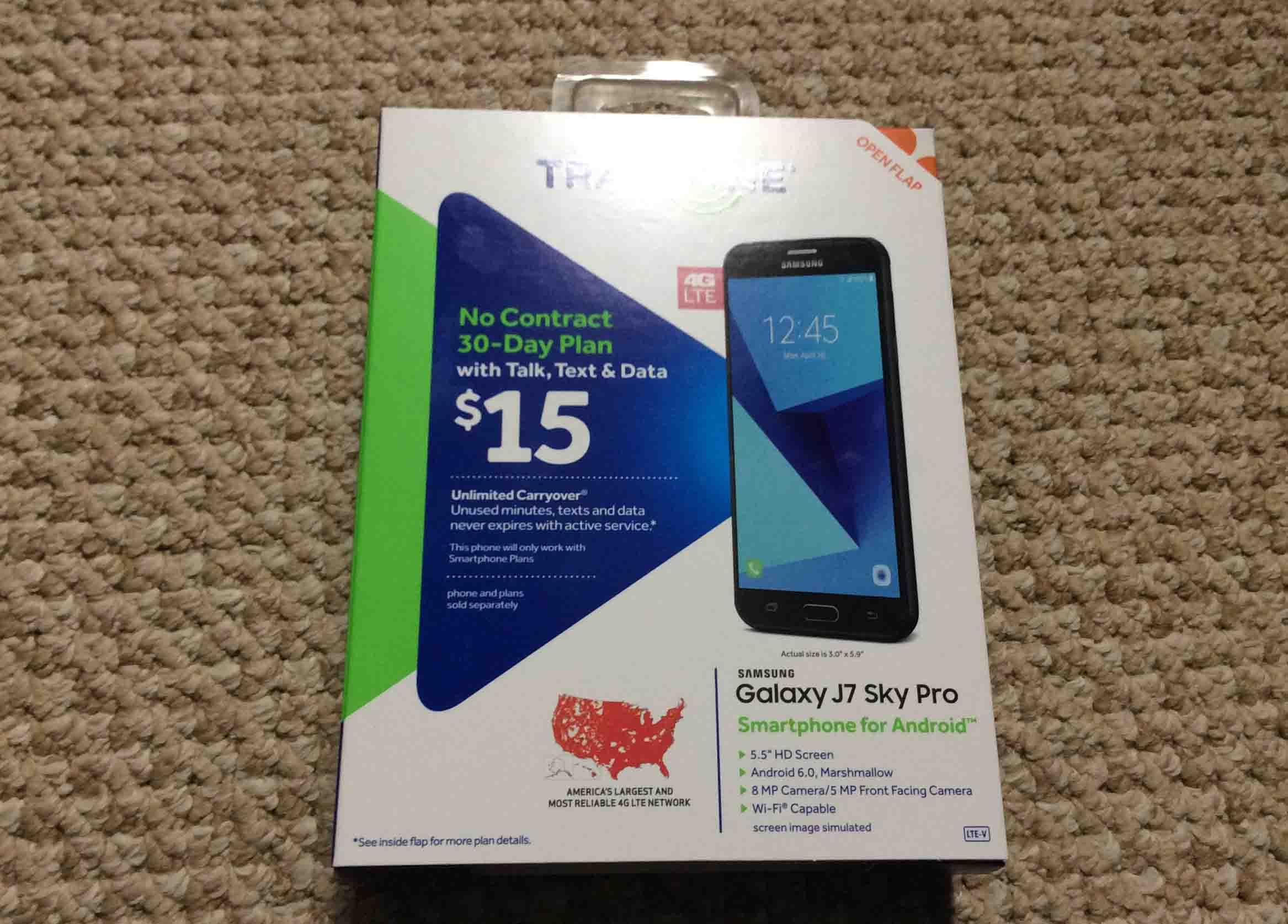 Unboxing Samsung Galaxy J7 Sky Pro Smart Phone | Tom's Tek Stop