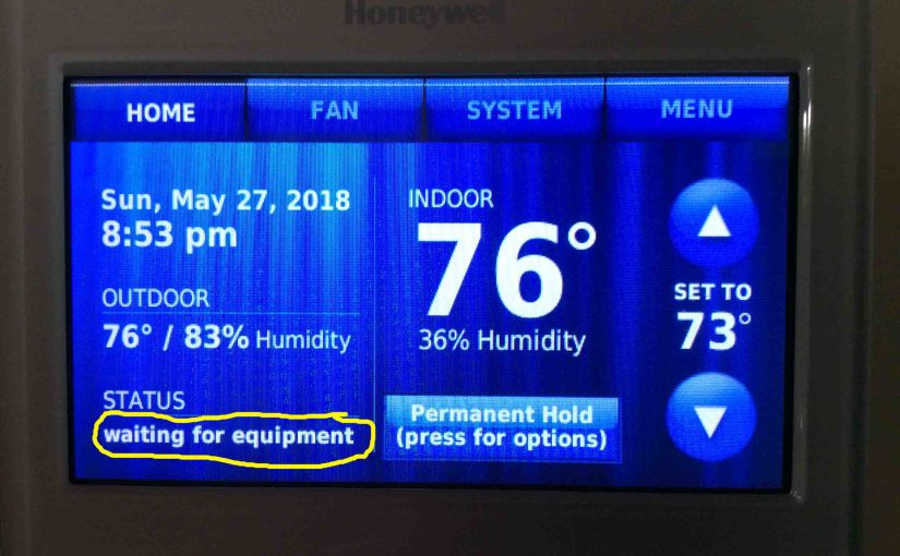 Honeywell Thermostat Waiting for Equipment Message, How to Clear on the RTH9580WF Smart Thermostat