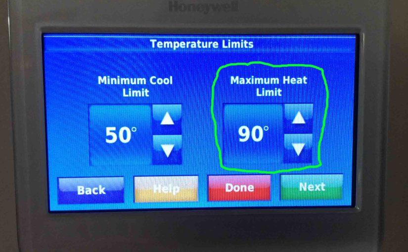 Set Temperature Range on Honeywell Thermostat