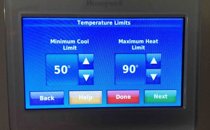 Set Honeywell Thermostat Temperature Limits on RTH9580WF WiFi Thermostat, How To