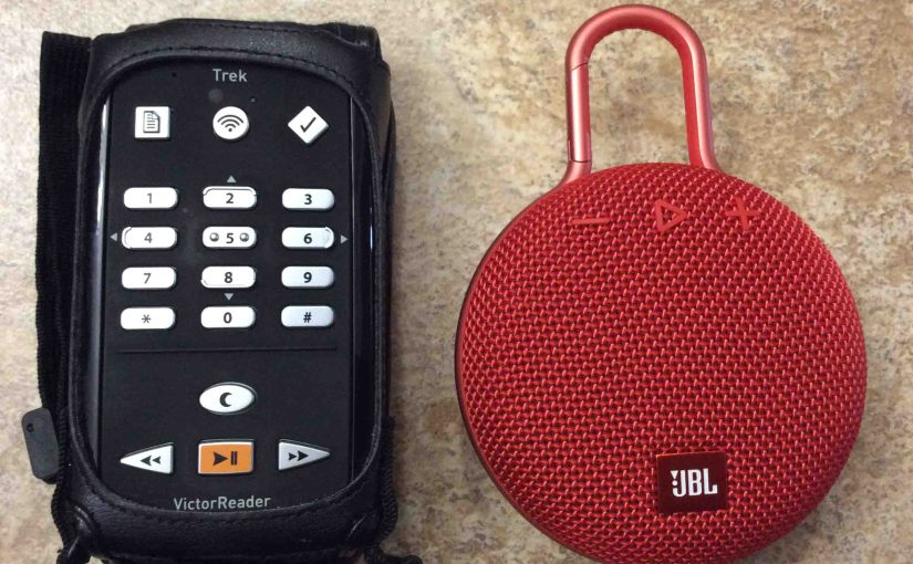 Pairing Victor Reader Trek with JBL Clip 3 Speaker, How To