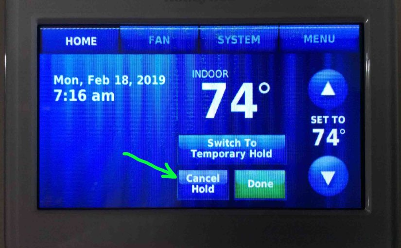 How to Turn Off Hold on Honeywell Thermostat