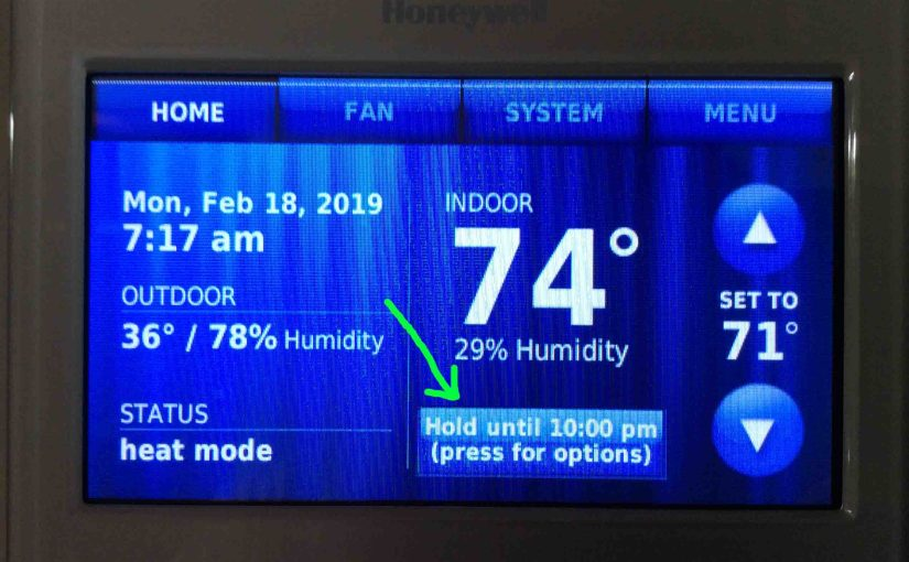 How to Cancel Hold on Honeywell Thermostat