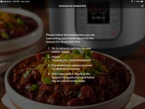 Screenshot of the Instant Pot App on iOS, showing its -Connect To Instant Pot- screen.