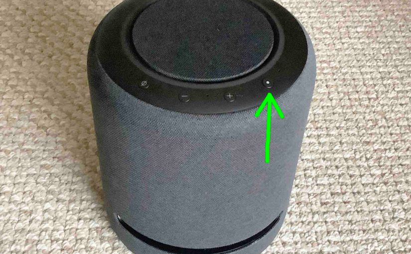 Where is the Action Button on Alexa Echo Speakers