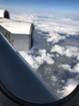 Flying over Sheffield in the A380