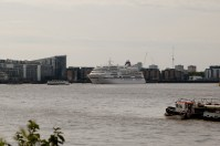 MS 'Europa' moored at Greenwich