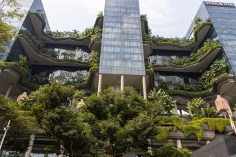 Green architecture - ParkRoyal on Pickering hotel