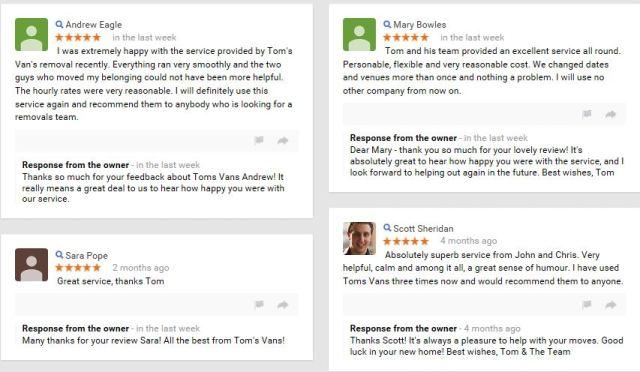 Tom's Vans Reviews