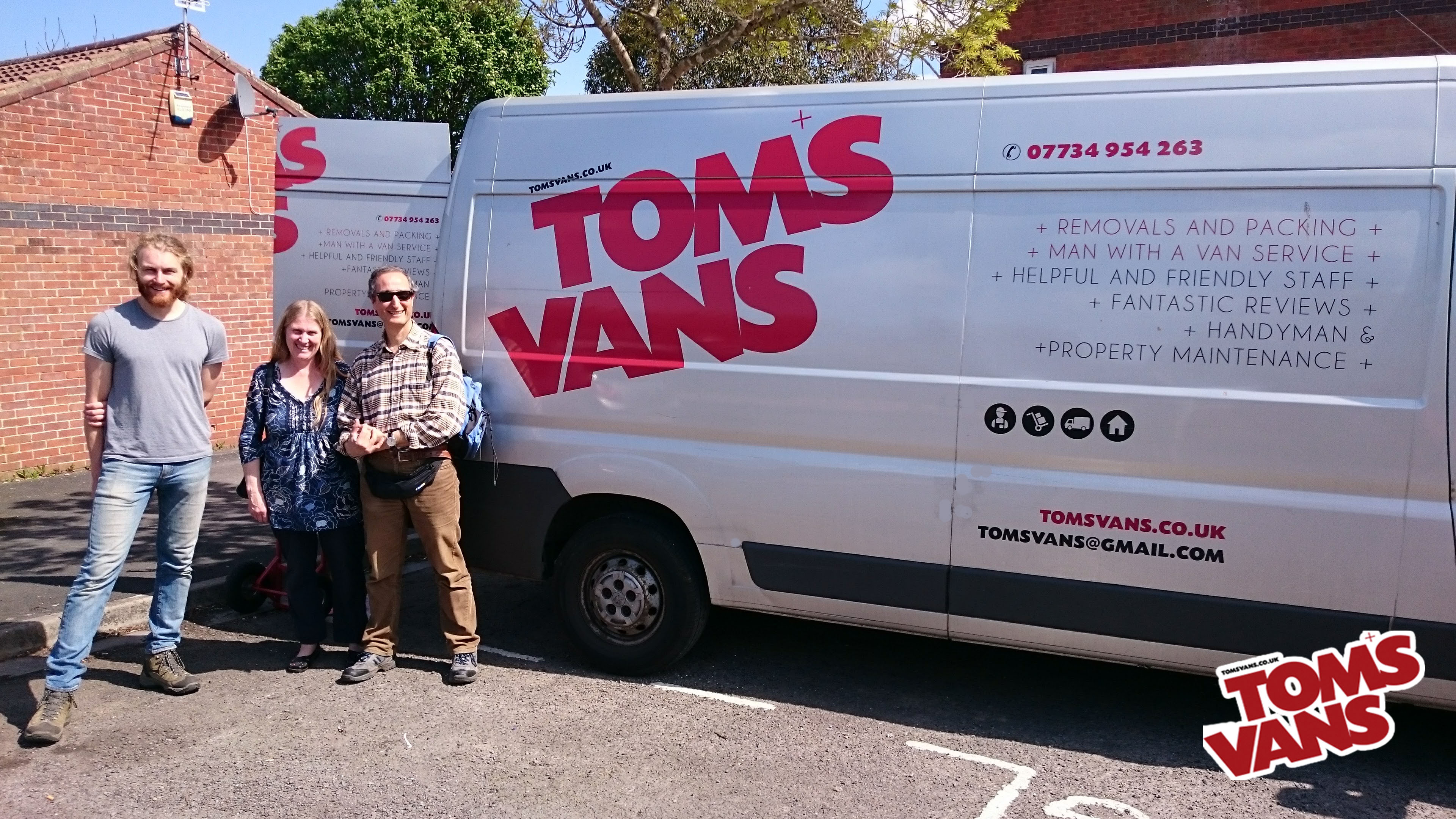 Bath & Bristol professional removals service - Tom's Vans Your Local Man with a Van.