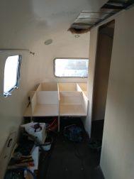 Airstream Interior Ausbau Bett hinten